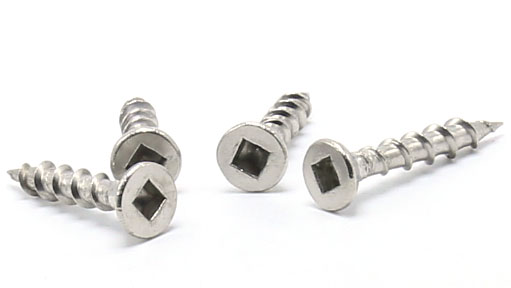 Square Drive Small Stainless Steel Wood Screws